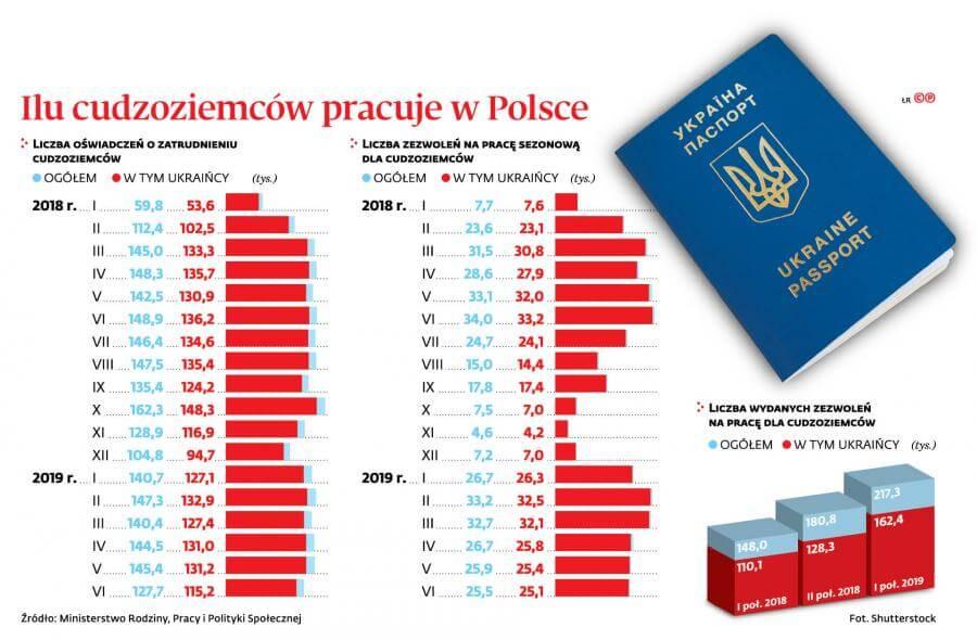 kredyt gotowkowy dla obcokrajowca - wykres ilosc cudoziemcow