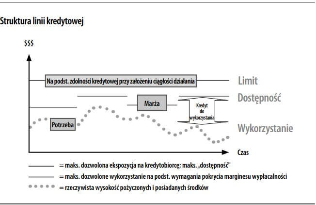 na czym polega linia kredytowa - grafika struktura linii kredytowej